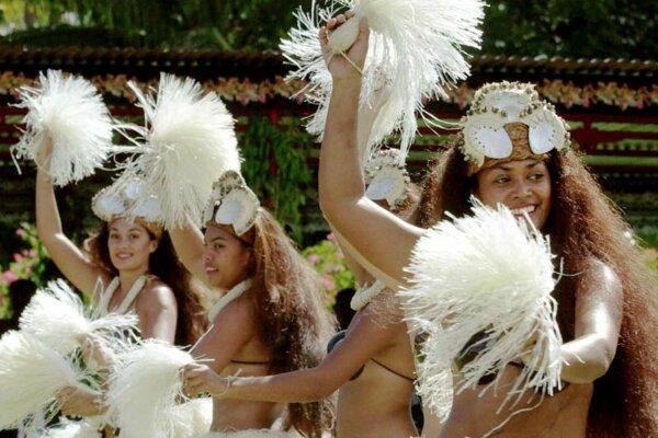 Tanečníčky z Cookových ostrovov.