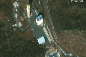 Satelitná snímka areálu v Sohe z 2. marca 2019.