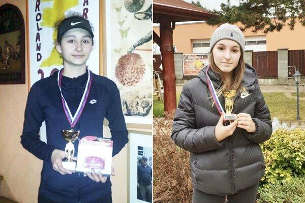 Zľava Ana Šabíková zo Zlatých Moraviec a Vivienne Vighová z Nitry.