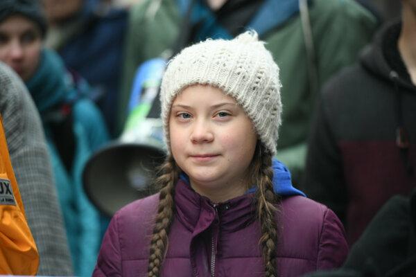 Švédska tínedžerka a aktivistka za ochranu životného prostredia Greta Thunbergová