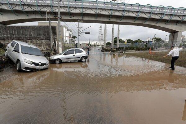 Záplavy v Sao Paule.