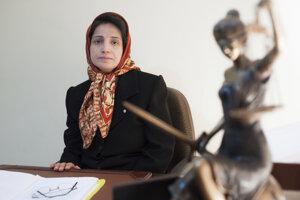Na archívnej snímke z novembra 2008 ľudskoprávna aktivistka a právnička Nasrín Sotúdeová.