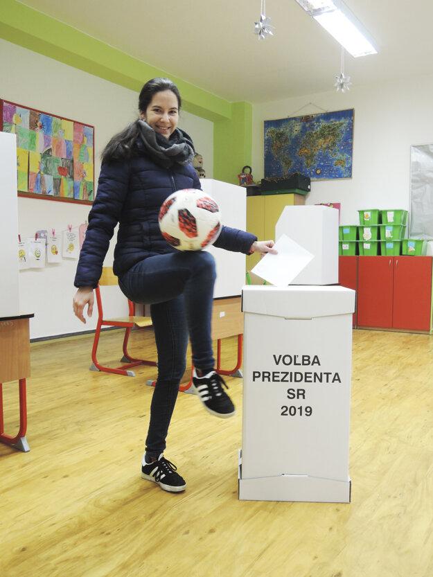 Majsterka sveta vo freestyle Lucia Kevická odvolila v bratislavskej Dúbravke.
