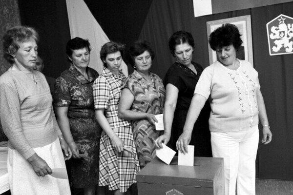 Voľby v 80. rokoch.