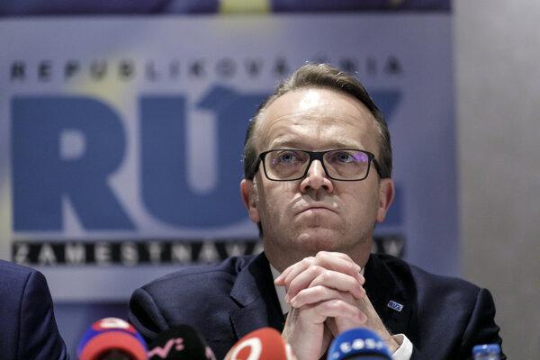Prezident Republikovej únie zamestnávateľov (RÚZ) Miroslav Kiraľvarga.