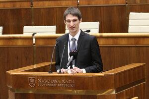 Predseda Študentskej rady vysokých škôl (ŠRVŠ) Bálint Lovász.