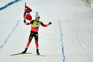 Na snímke nórsky biatlonista Johannes Thingnes Bö.
