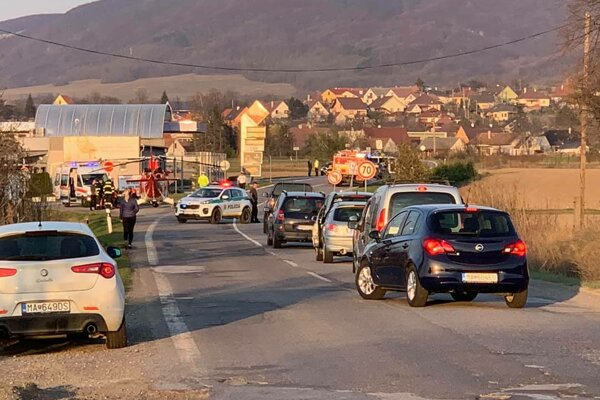 Nehoda v Sološnici.
