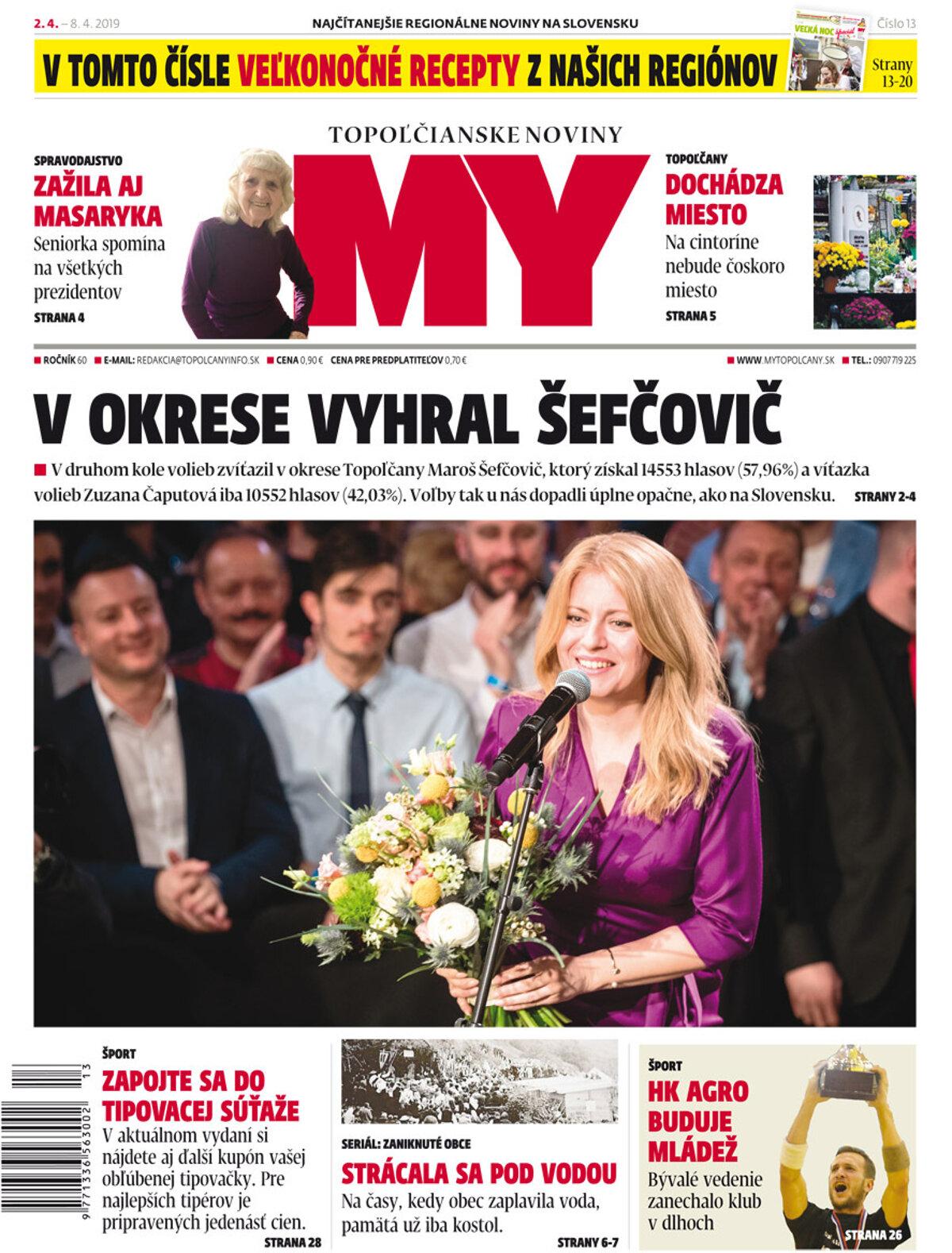 d4a6db2ab Vyšlo aktuálne číslo MY Topoľčianskych novín Dnešok - SME | MY Topoľčany