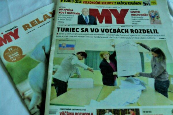 Už od pondelkového poobedia sú MY Turčianske noviny v predaji.