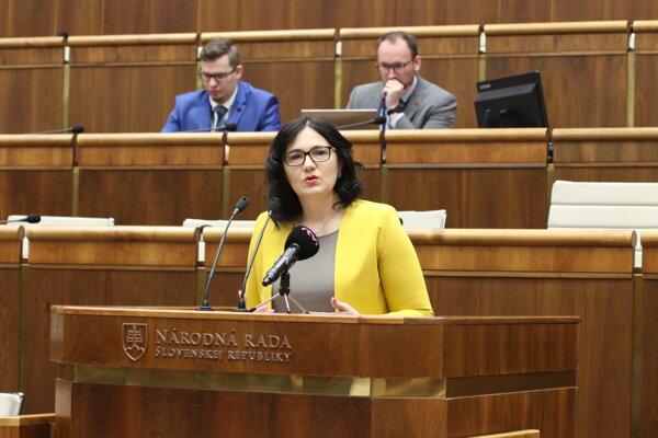 Ministerka školastva, vedy, výskumu a športu SR Martina Lubyová.