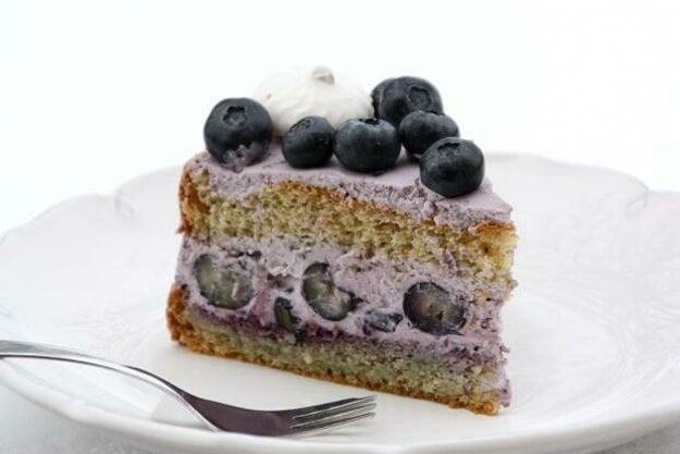 Čučoriedková torta s mascarpone