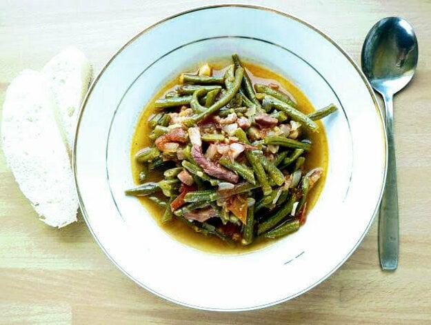 Zelená fazuľka na baskický spôsob