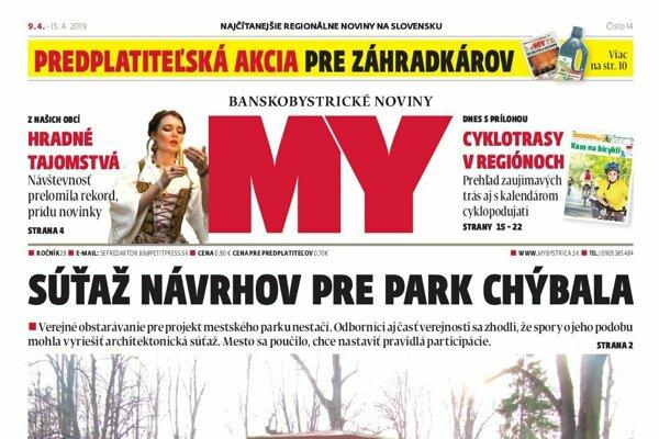 9ce2d8a9cbcd6 Nové číslo týždenníka MY Banskobystrické noviny prináša aj tieto témy