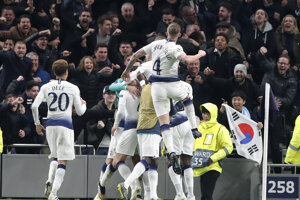 Radosť hráčov Tottenhamu.