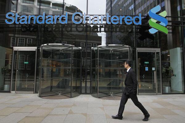 Banka Standard Chartered v Londýne.