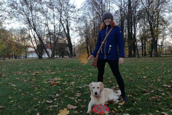 Park aktívne využívala aj Paula so svojím psíkom.