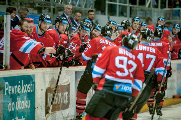 Hokejisti Banskej Bystrice.