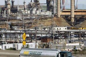 Rafinéria americkej ropnej spoločnosti Chevron v kalifornskom Richmonde.