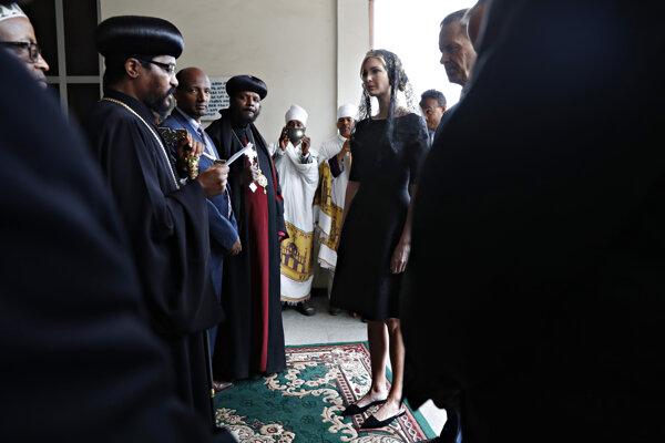 Ivanka Trump prichádza do Katedrály Najsvätejšej Trojice v Addis Abebe