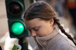 Mladá švédska environmentálna aktivistka Greta Thunbergová.