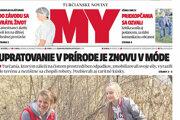 Titulka najnovšieho vydania MY Turčianskych novín.