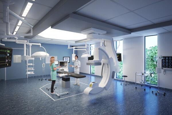 Vizualizácia priestorov novej nemocnice Penty na bratislavských Boroch.