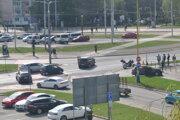 Zrazili sa dve vozidlá.