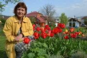 Eva Goľová vo svojom tulipánovom raji.