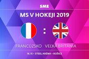 Francúzsko - Veľká Británia, zápas MS v hokeji 2019, skupina A. Sledujte online prenos na SME.sk.