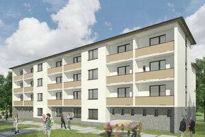 Takto bude vyzerať nová bytovka vTurčianskych Tepliciach.