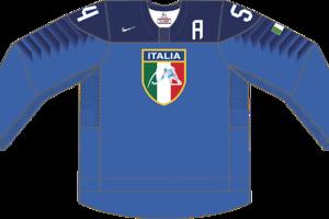 Dres Talianska určený pre zápasy, v ktorých je napísané ako hosťujúci tím.