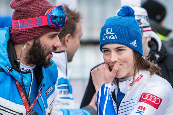 Petra Vlhová po druhom kole slalomu žien v Maribore.