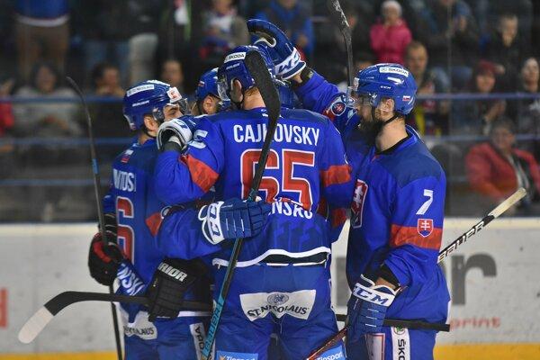 Hokejisti slovenskej reprezentácie.