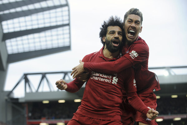Mohamed Salah (vľavo) a Roberto Firmino.