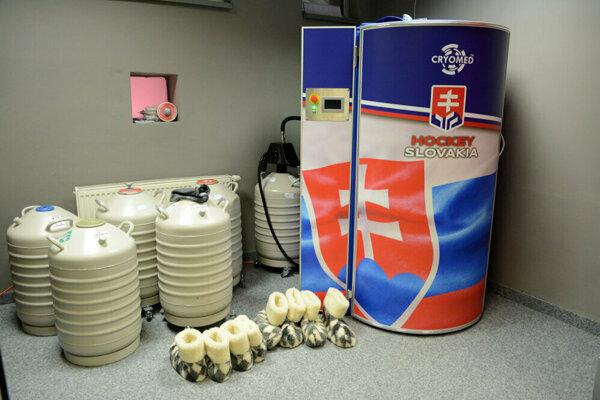 Kryokomora, ktorú budú mať slovenskí hokejoví reprezentanti k dispozícii počas MS.