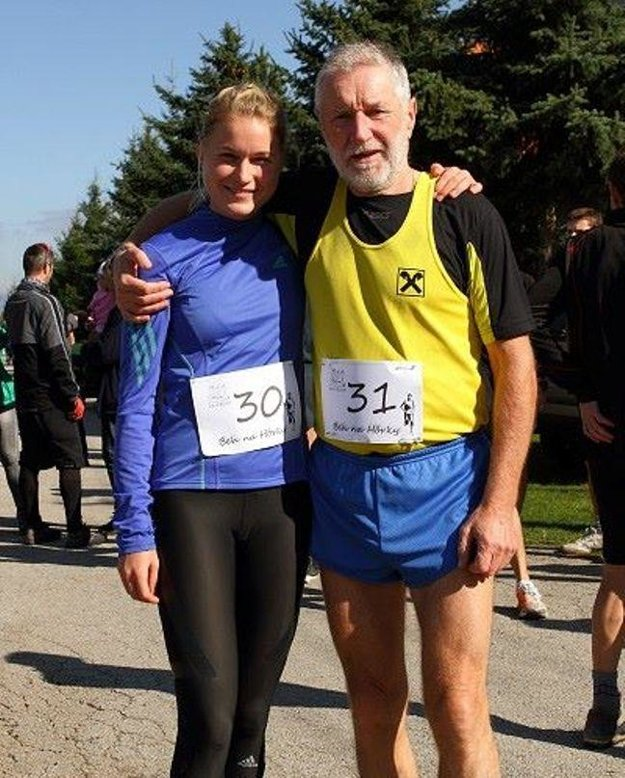 Bežec - rekordér s dcérou Petrou.