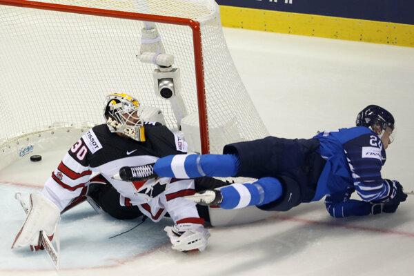 Kaapo Kakko v zápase Fínsko - Kanada na MS v hokeji 2019.