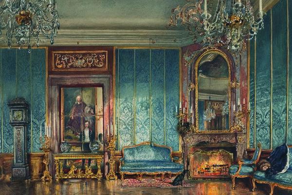 Rudolf von Alt: Salón paláca Rasumofských (1836)