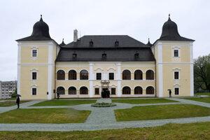 Kaštieľ Hanušovce počas výjazdového rokovania 155. schôdze vlády SR v Hanušovciach nad Topľou.