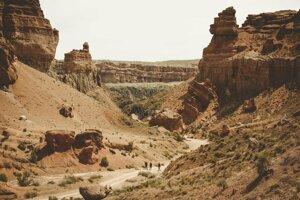 Kazašský kaňon Charyn.