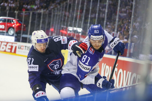 Zľava: Anthony Rech z Francúzska a Erik Černák zo Slovenska.