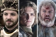 Renly Baratheon, Loras Tyrell a Hodor. Hrdinovia seriálu Game of Thrones.