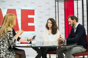 V štúdiu video.sme.sk o výsledkov eurovolieb diskutovala šéfredaktorka portálu Euroactiv Zuzana Gabrižová a politológ Erik Láštic.