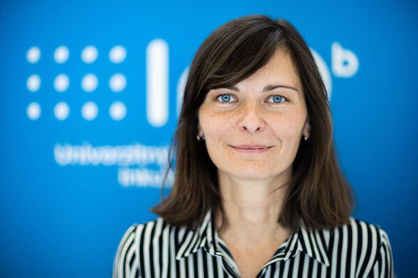 Riaditeľka InQb Univerzitného technologického inkubátoru STU Martina Vavreková.