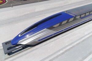 Prototyp vlaku maglev vo východočínskom meste Čching-tao.