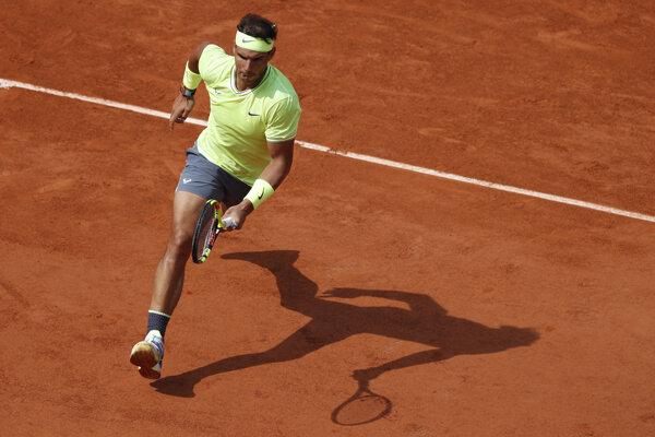 Rafael Nadal vo štvrťfinálovom zápase na Roland Garros 2019.