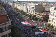Protestov proti Andrejovi Babišovi sa zúčastnili desaťtisíce ľudí.