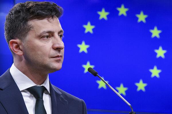 Volodymyr Zelenskyj v Bruseli.