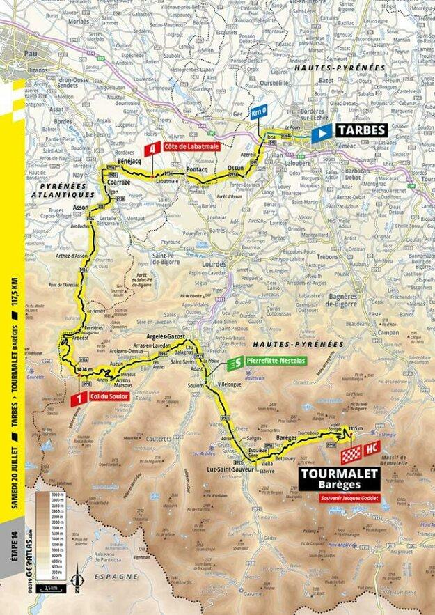 14. etapa Tour de France 2019.